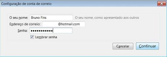 configurar hotmail no thunderbird