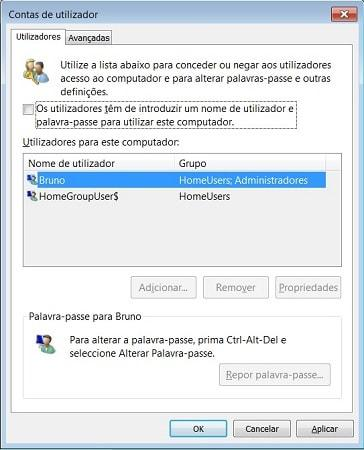 login automatico windows 7