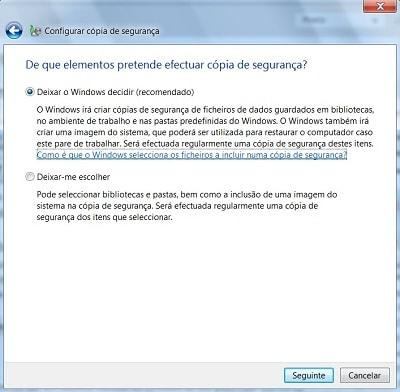 como fazer backup no windows 7