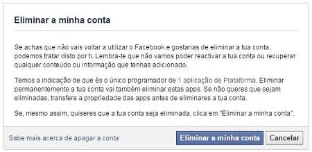 como desativar conta do facebook